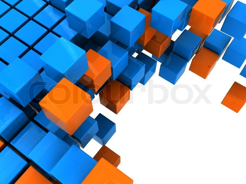 3d illustration of boxes stucture background orange and blue colors 3d illustration of boxes stucture background orange and blue colors stock photo colourbox altavistaventures Images
