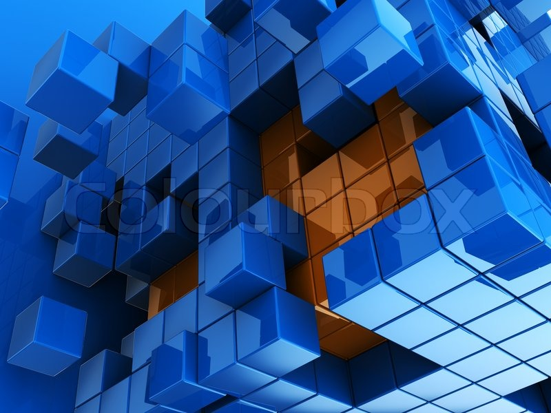 Abstract 3d illustration of blue and orange cubes background stock abstract 3d illustration of blue and orange cubes background stock photo colourbox altavistaventures Images