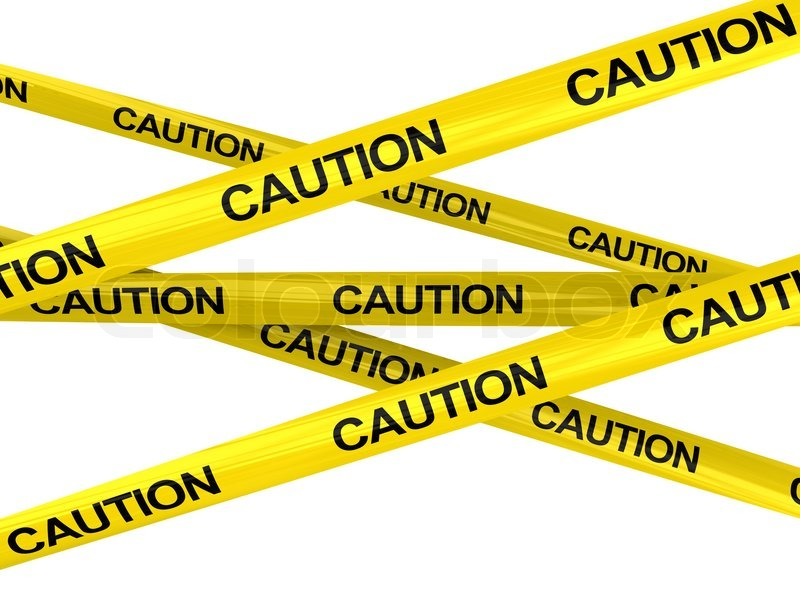 3d illustration of warning ribbons with 39 caution 39 text for What does punch out mean in construction