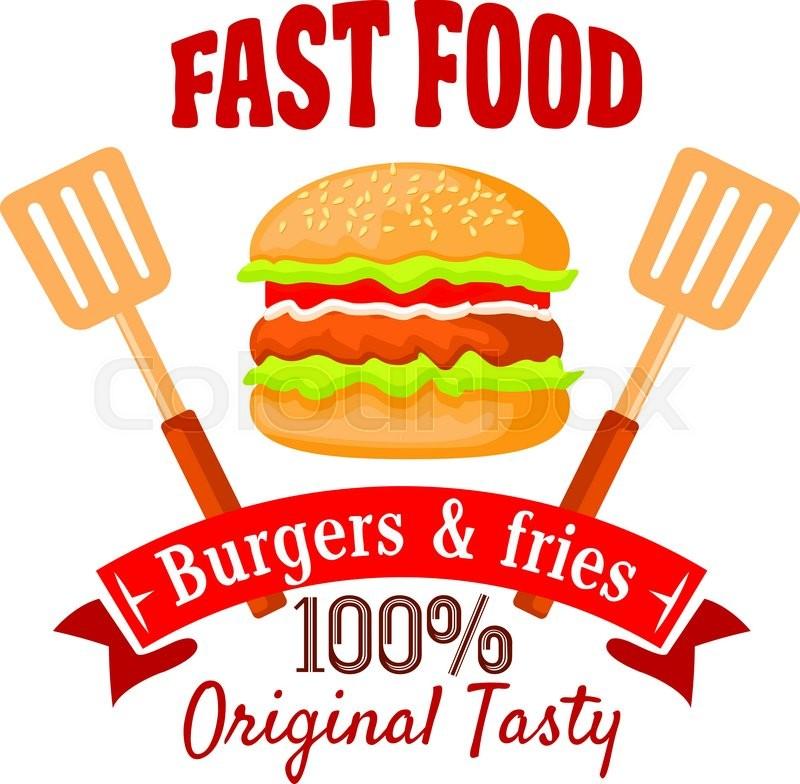 Burger Shop Badge Design Template Of Stock Vector Colourbox