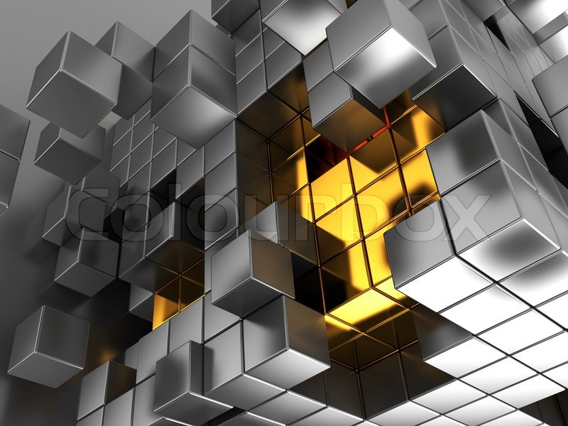 3d abstract cubes background - photo #21