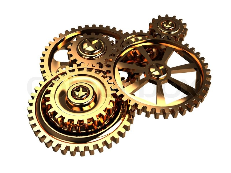 Abstract 3d illustration of clock gears, time concept | Stock ...