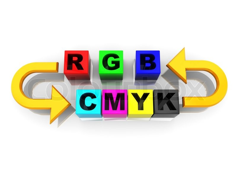 3d Illustration Of Rgb And Cmyk Stock Photo Colourbox
