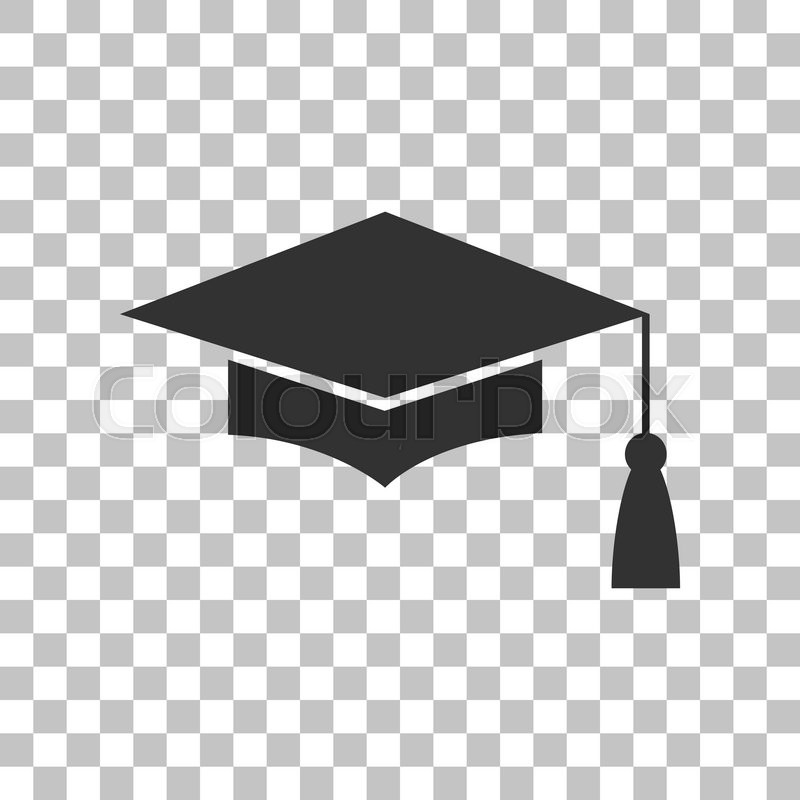 Mortar Board Or Graduation Cap Education Symbol Dark