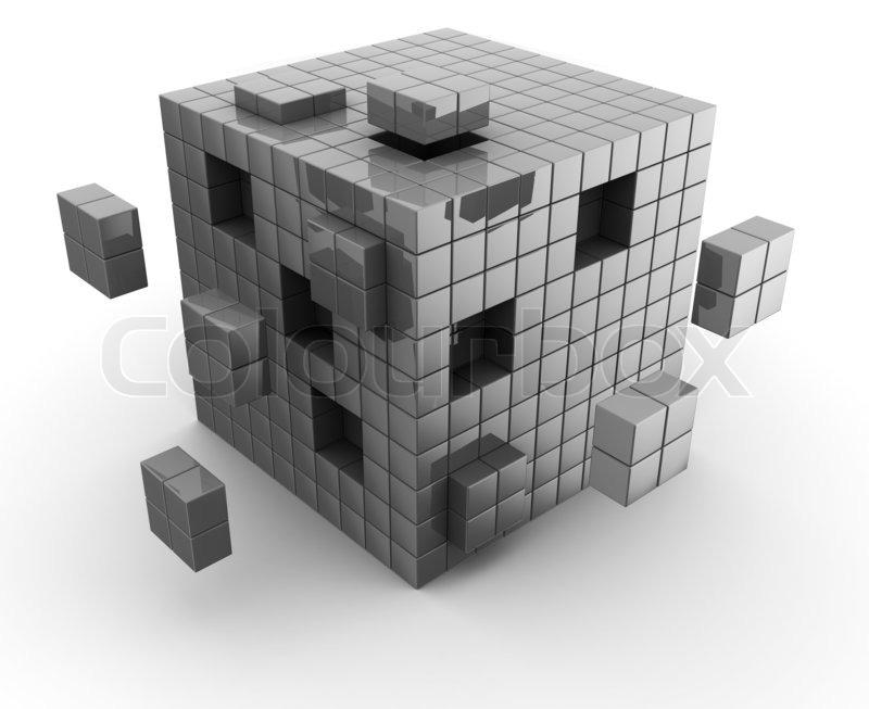 abstrakte 3d illustration der w rfel konstruktion mit. Black Bedroom Furniture Sets. Home Design Ideas