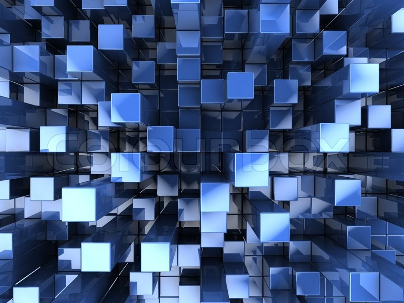 Blue Abstract 3d Blocks Stock Illustration - Image: 69363359