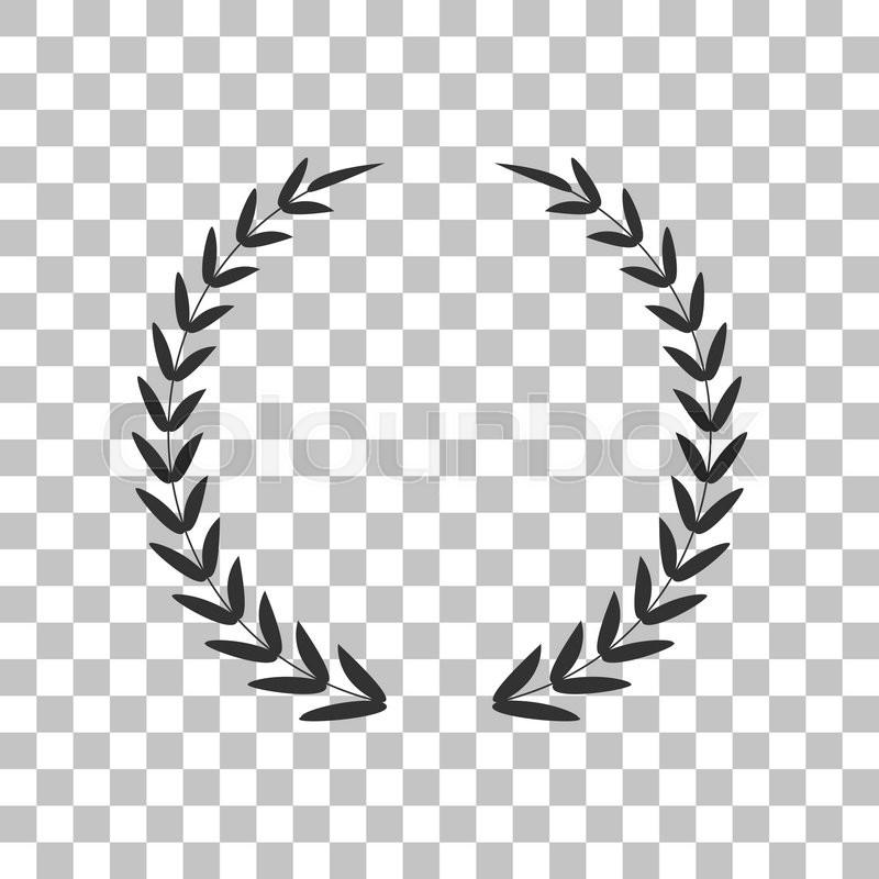 laurel wreath sign dark gray icon on transparent