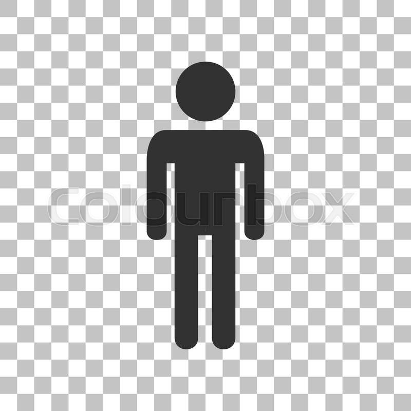 man sign illustration dark gray icon stock vector Football Silhouette Vector Person Silhouette Vector