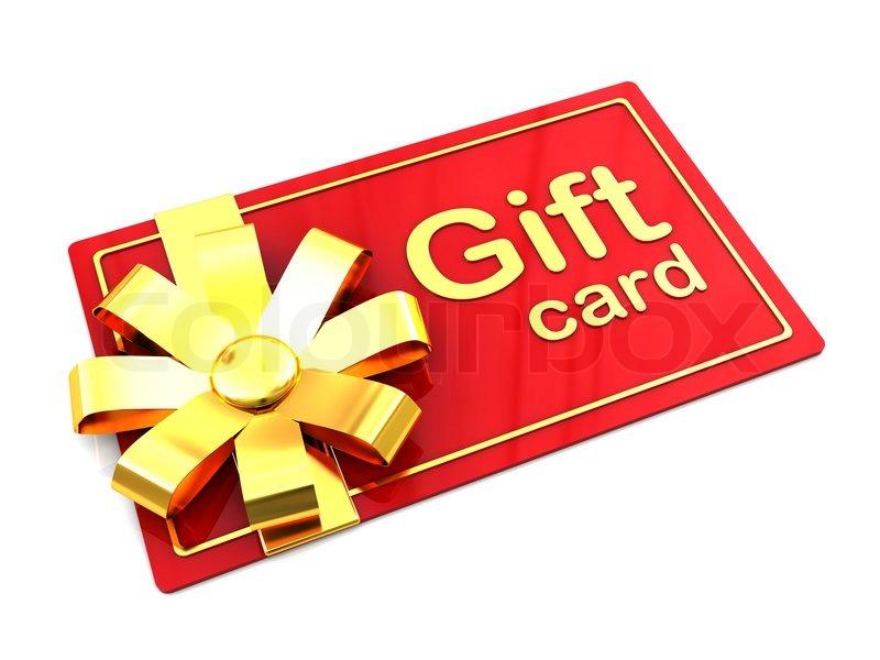 3d Illustration Of Plastic Gift Card Over White Background Stock