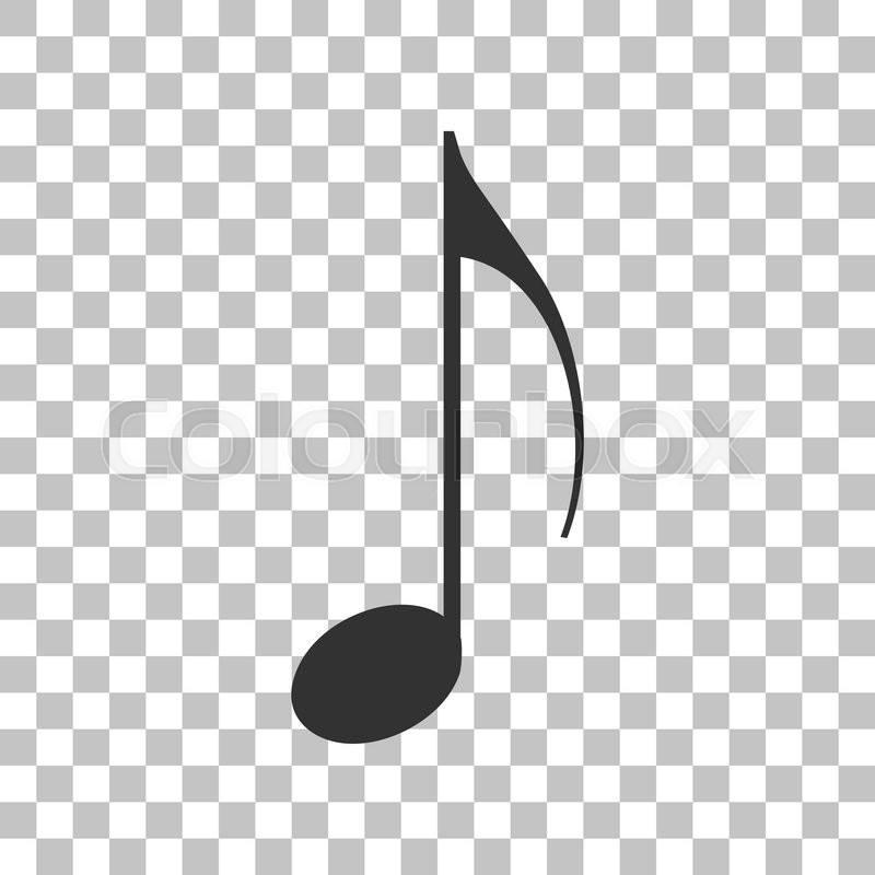 Music note sign  Dark gray icon on transparent background