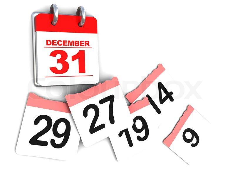 Calendar Illustration Job : D illustration of calendar over white background days