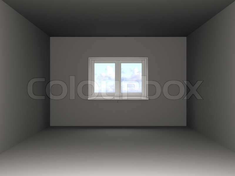 3d illustration of empty room template stock photo colourbox