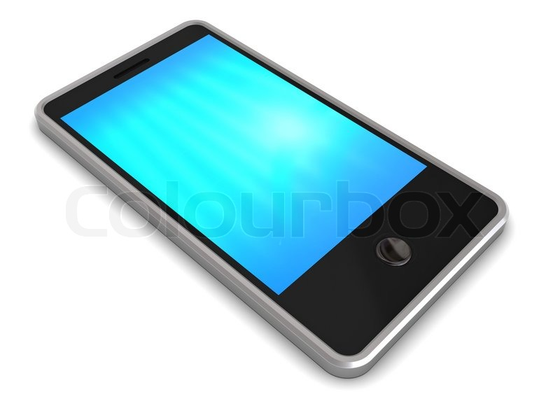 3d Illustration Of Generic Touch Screen Stock Image Colourbox