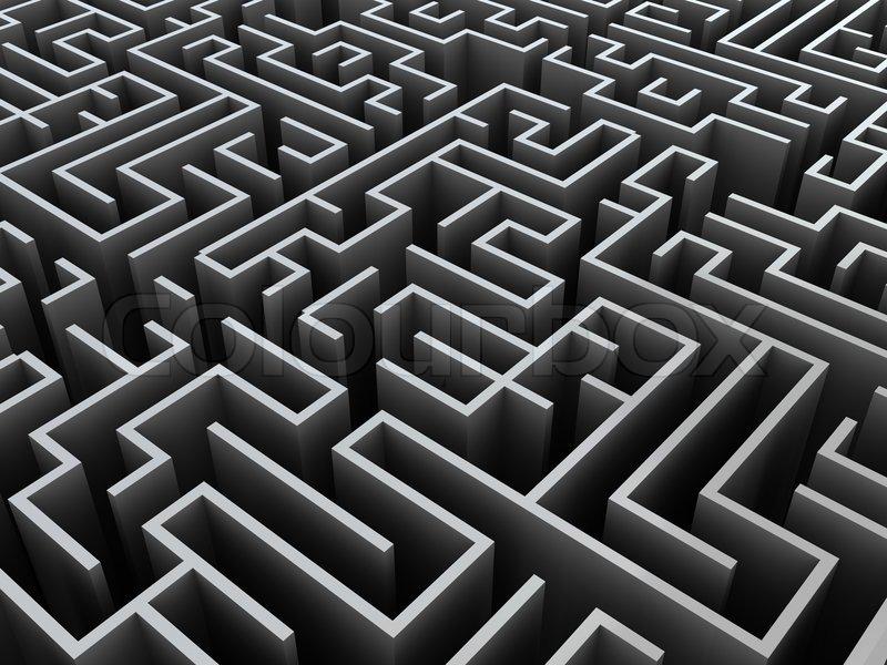 labyrinth zeichnen 3d