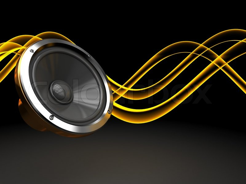 Abstract 3d Illustration Of Dark Background With Audio