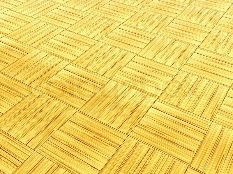 3d Illustration Of Wood Parquet Floor Background Stock