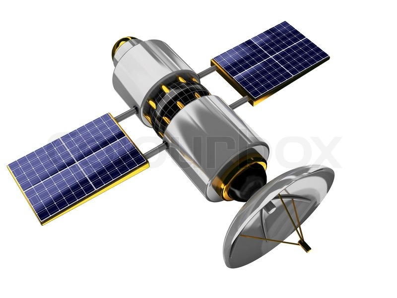 3d Illustration Of Generic Satellite Isolated Over White