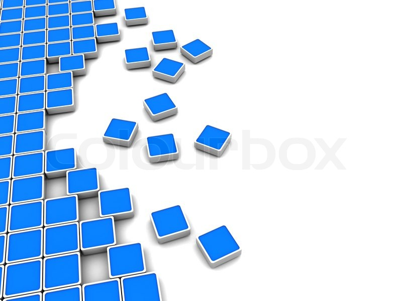 Abstract 3d Illustration Of Blue Stock Photo Colourbox