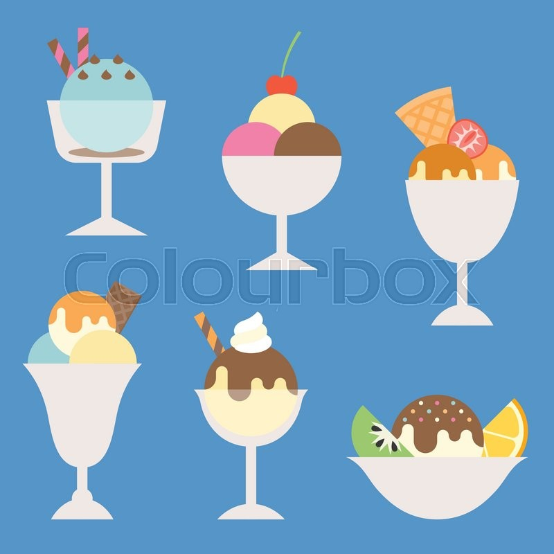Popular Ice Cream Wallpaper Buy Cheap Ice Cream Wallpaper: Set Of Ice Cream In Glass And Cup With ...