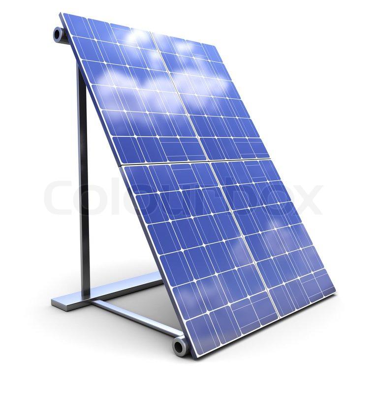 3d Illustration Of Solar Panel Over White Background