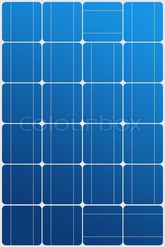 Illustration of blue solar panel texture pattern | Stock