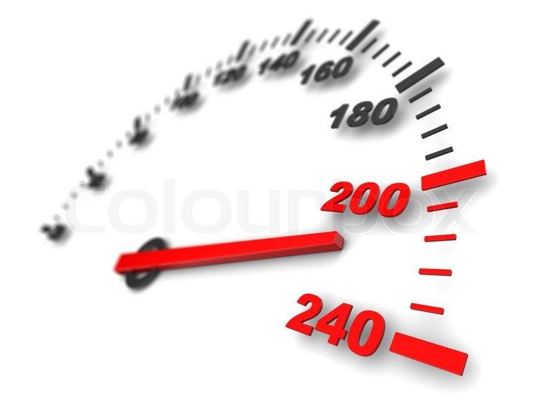 3d Illustration Of Speed Meter Fast Stock Photo Colourbox