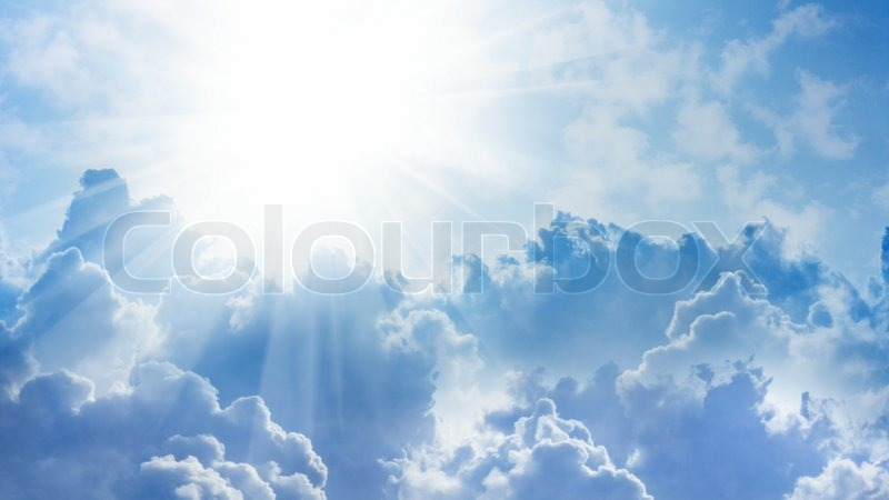 Heaven Cloud Backgrounds Sun and clouds, stock photo