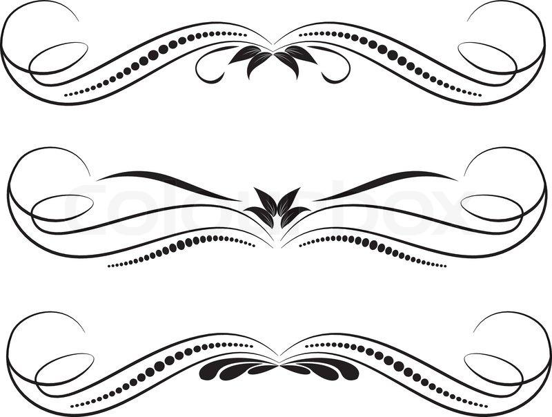 quotvector decorative design elements amp page decorquot stock