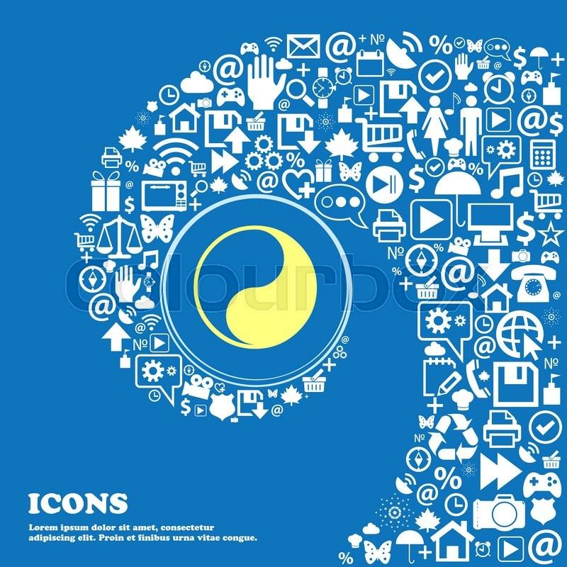 Yin Yang Sign Symbol Nice Set Of Beautiful Icons Twisted Spiral