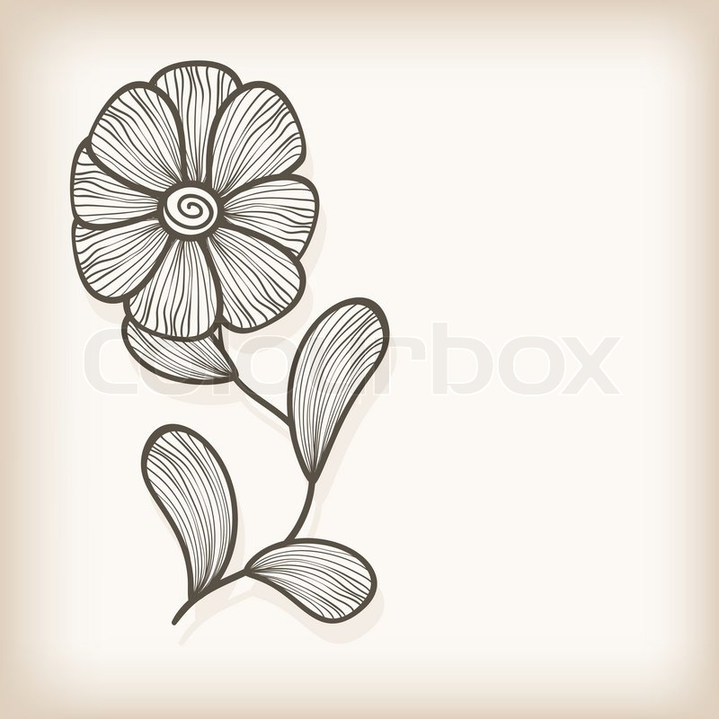 Vector greeting card with hand drawn abstract flower stock vector vector greeting card with hand drawn abstract flower stock vector colourbox m4hsunfo