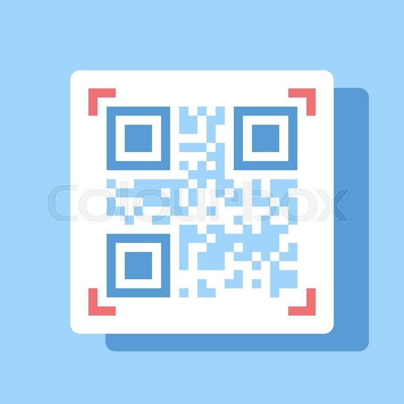 Abstract vector illustration of QR code flat design concept. | Stock ...