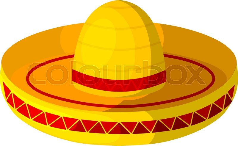 how to draw mexican hat