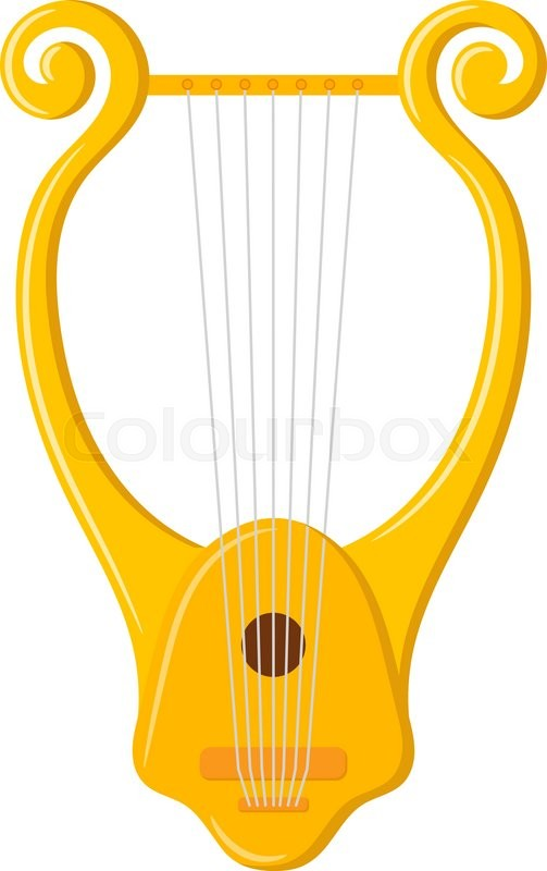 Vector image of vintage Lyre on a     | Stock vector | Colourbox