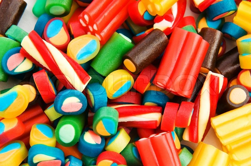 Stock image of 'Background made of colourful sweets'