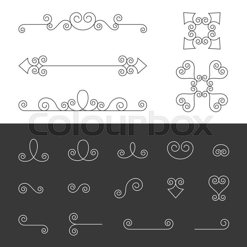Vector set of symmetry ornate calligraphic vintage elements stock vector of vector set of symmetry ornate calligraphic vintage elements flourishes ornament stopboris Gallery