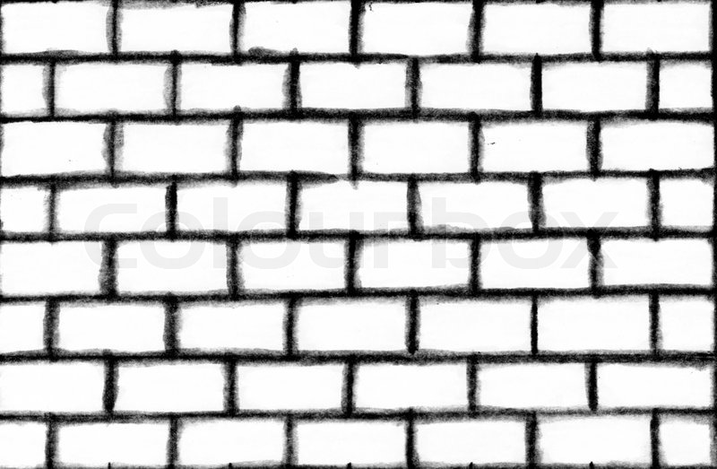 abstract background of a white brick wall