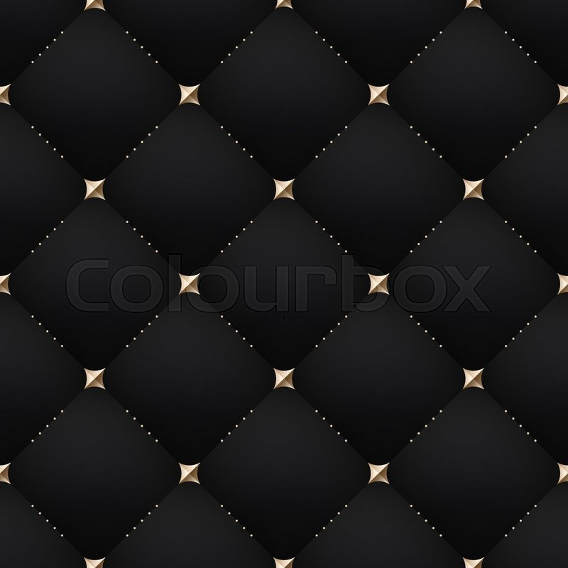 Seamless Luxury Dark Black Pattern And Stock Vector