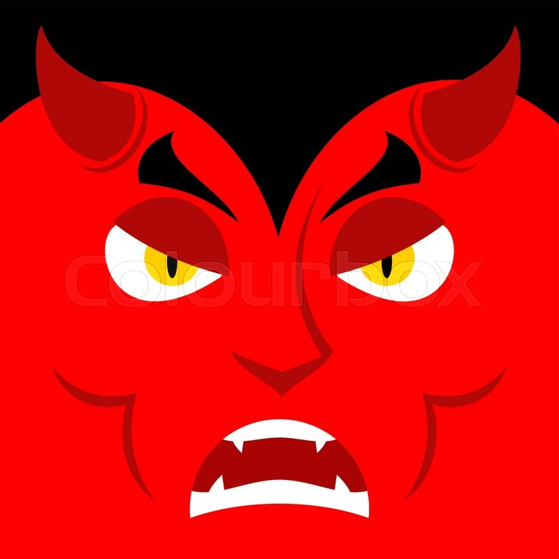 4a4068a9c95e Evil Satan. Angry emotion Devil. ...