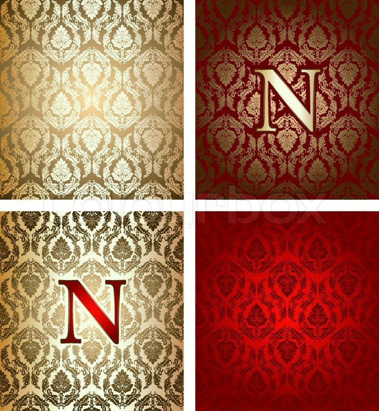 Red Gold Royal Background Stock Vector Colourbox