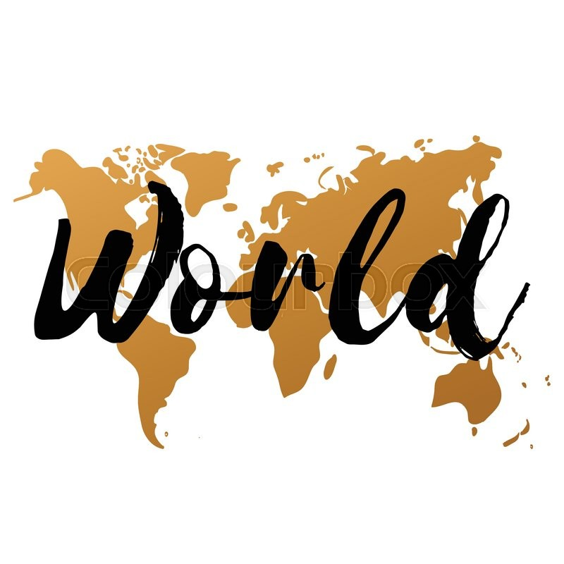 Vector gold world map on white background doodle world map vector stock vector of vector gold world map on white background doodle world map gumiabroncs Gallery