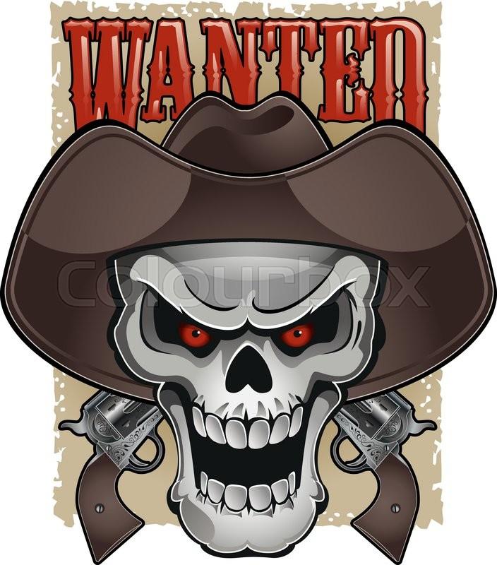 8468cc2bc47 Skull with cowboy hat