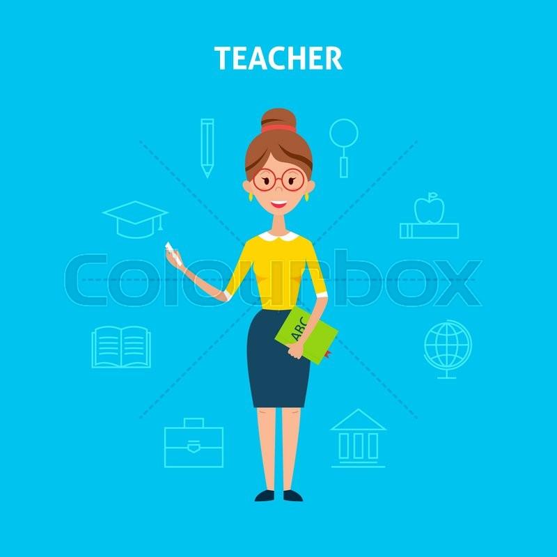 Lehrer, grund-, symbol | Vektorgrafik | Colourbox