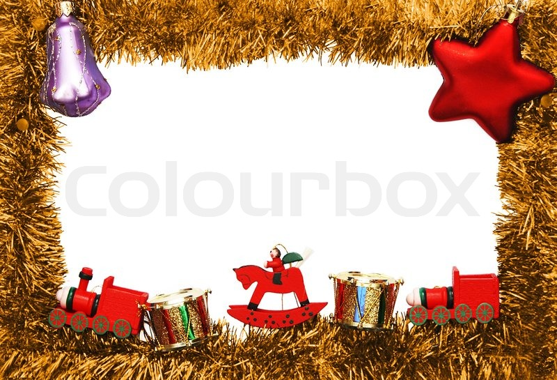 New year frame with toys | Stock Photo | Colourbox