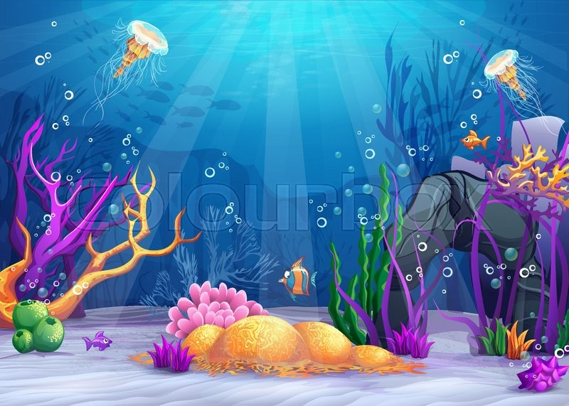 marine life landscape the ocean and stock vector