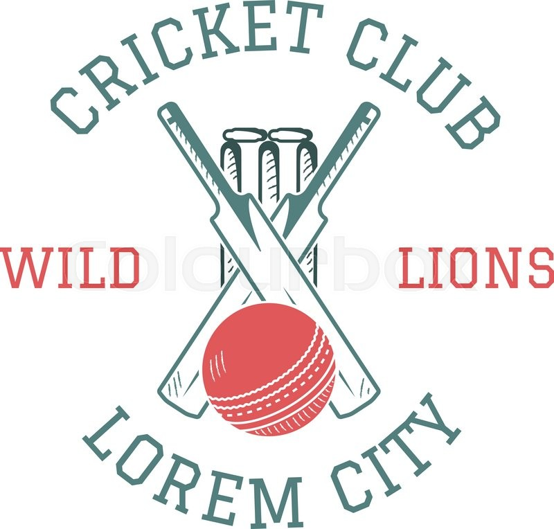 retro cricket club emblem design cricket logo icon design