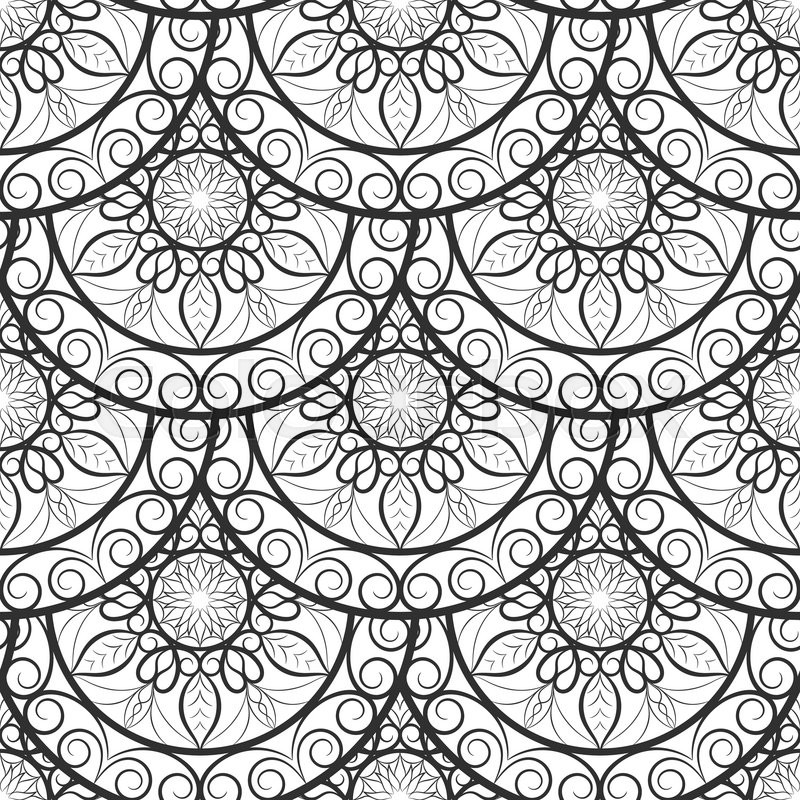 Vector Seamless Floral background Pattern. Design indian, arabic ...
