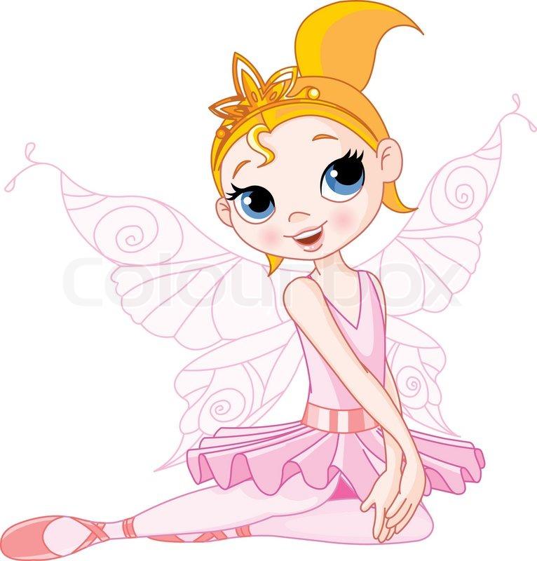 Stock vector of princess cartoon fairy