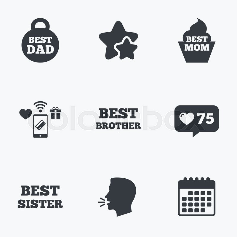 Best Mom And Dad Brother And Sister Icons Weight And Cupcake Signs