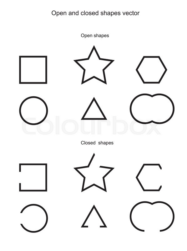 Geometric Coloring Pages further Got You Squares Shook And Out Of Shape Like A Rhombus Ah Geometry Class likewise 756 additionally Clothes additionally Open And Closed Shapes Vector Vector 20062487. on geometric shapes and figures