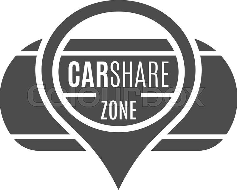 Car Share Logo Design Car Sharing Stock Vector Colourbox